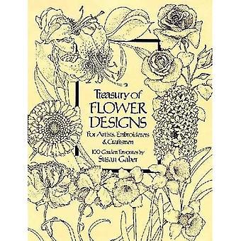Um tesouro de desenhos de flores (Dover Pictorial Archive)