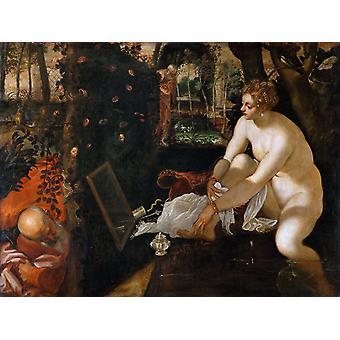 The Bathing Susanna, Tintoretto, 50x40cm