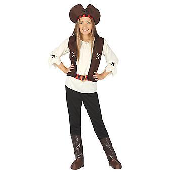 Girls Seven Seas Pirate Fancy Dress Costume