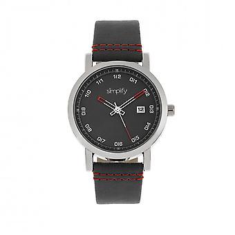 Simplifier la montre de courroie de 5300 - argent/noir