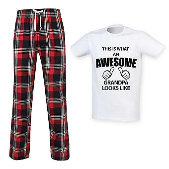This Is What An Awesome Grandpa Looks Like Tartan Pyjamas