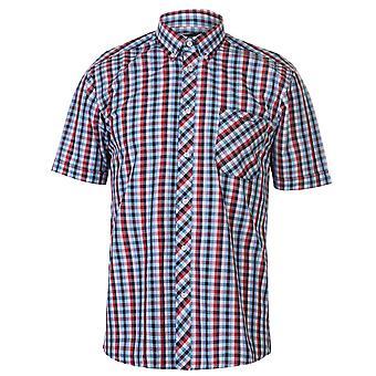 Pierre Cardin miesten värillinen gingham lyhythihainen paita rento Topit