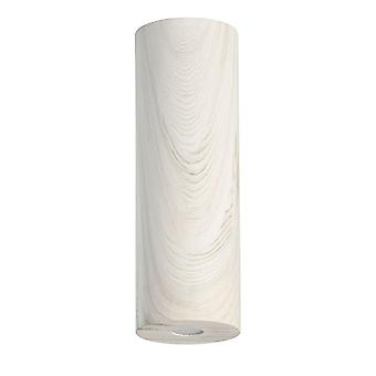 Glasberg - LED Semi Flush 30cm luz de teto branco madeira 712011001