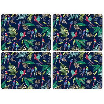 Sara Miller Papagei Tischsets, 4er-Set