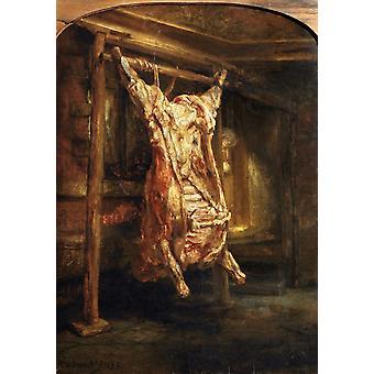 Le Bœuf Staughtered, Rembrandt, 60x42cm