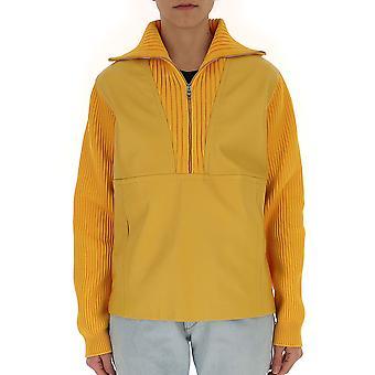 Prada Yellow Polyester Outerwear Jacket