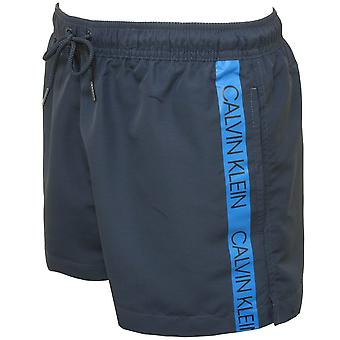 Calvin Klein Core Logo Tape Swim Shorts, Navy