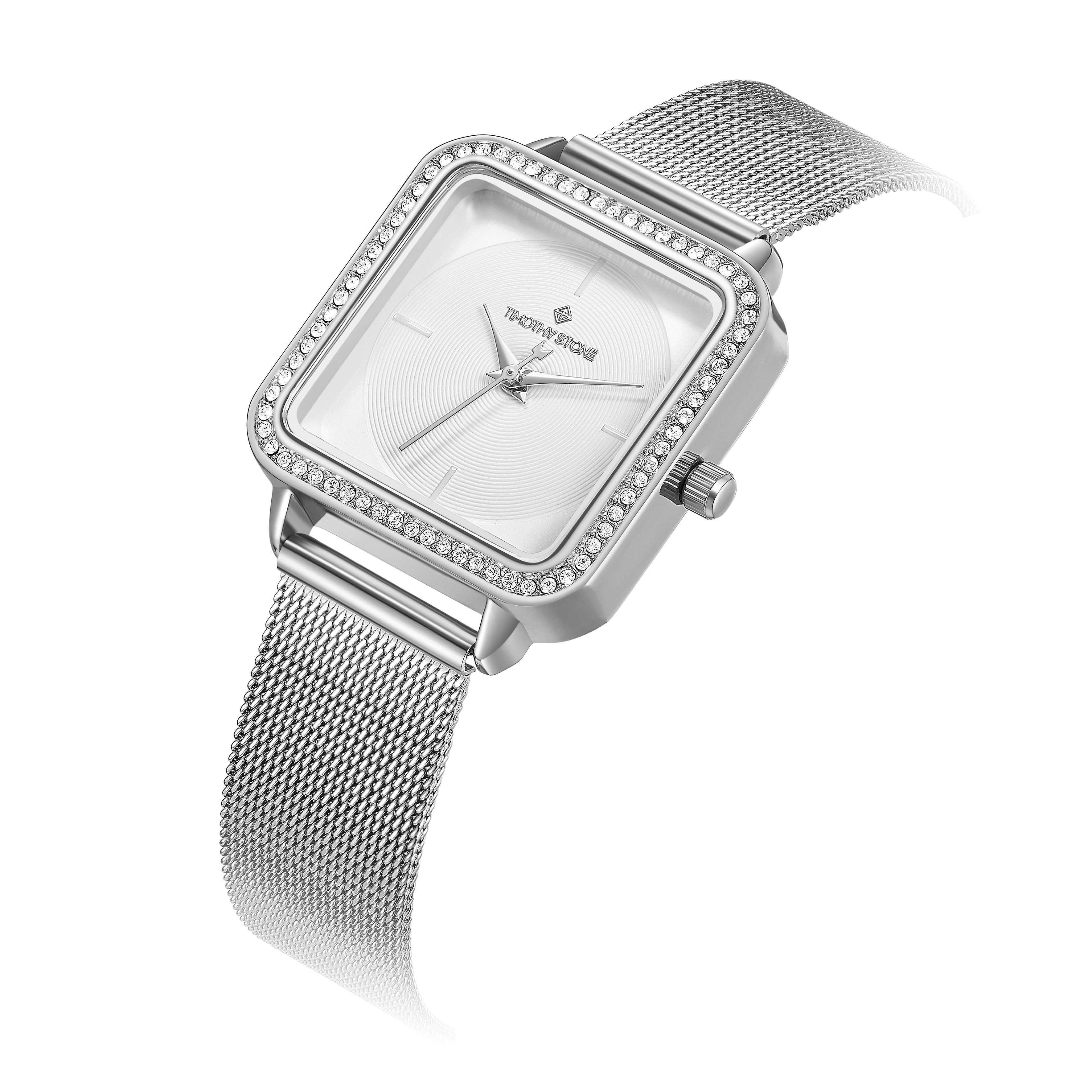 Timothy Stone Ladies Quartet collection with cristal swarovski. silver