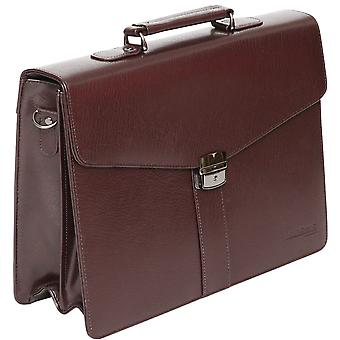 Tassia Bonded Leather Business Briefcase Bag - 15.4
