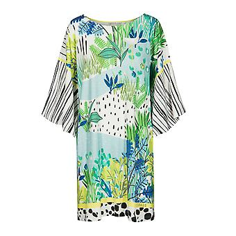 Féraud 3195325-16526 Women's Voyage Sealeaves Blue Kaftan Beach Dress