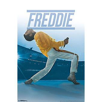Poster - Studio B - Queen - Freddie Live 36x24