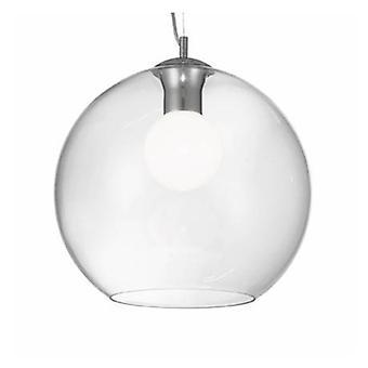 1 Light  Large Globe Ceiling Pendant Clear