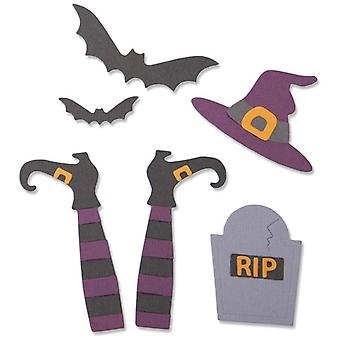 Sizzix Thinlits Die Set Spooky Witch Set of 9 par Georgie Evans
