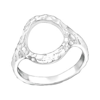 Patterned Circle - 925 Sterling Silver Plain Rings - W39251x