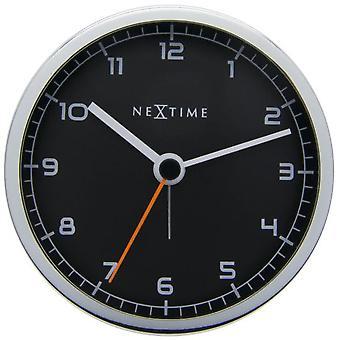Nextime Alarme Horloge 9X9X7.5 Cm Metal Noir Alarme D'Entreprise (Décoration , Horloges)