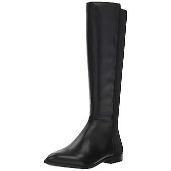 Nove mulheres ocidentais Owenford couro fechado Toe joelho botas de equitação de alta
