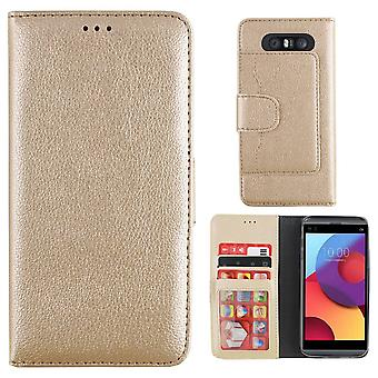 LG Q8 Case Gold - Wallet Case