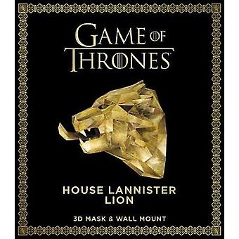 Game of Thrones Mask - House Lannister Lion (3D Mask & Wall Mount)