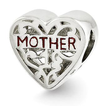 925 Sterling Silver Vintage loppuun Reflections Emaloitu Äiti Helmi Charm riipus kaulakoru korut lahjat naisille