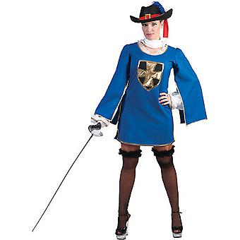 Musketeer Blue Women's Costume Scoin Fighter Escrime Dames Costume