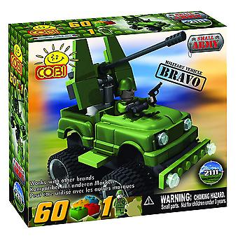Small Army 60 Piece Bravo Military Vehicle Construction Set