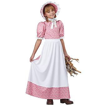 Early American Girl Colonial Pioneer Prairie Olden Day Frontier Girls Costume