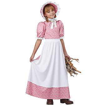 Vroege Amerikaanse meisje koloniale pionier Prairie Olden dag Frontier meisjes kostuum