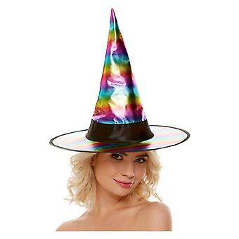Damskie Halloween Rainbow Witch Hat