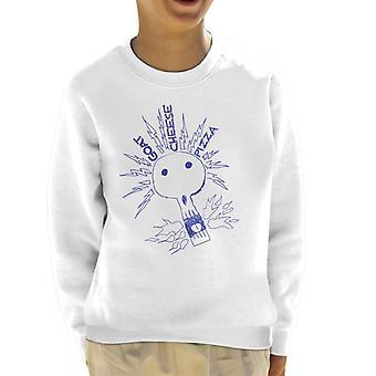 Zits geder ost pizza elektrisk kraniet kid ' s sweatshirt