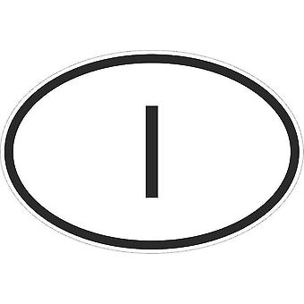 Pegatina pegatina etiqueta etiqueta bandera oval código país moto coche italiano Italia I