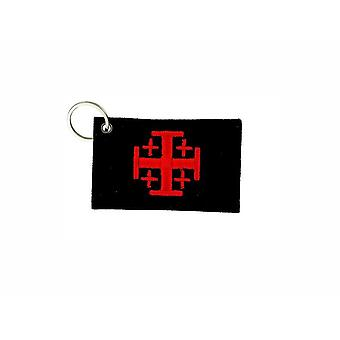Cle Cles Key Brode Patch Ecusson Flag Templar Cross De JerUSAlem R1