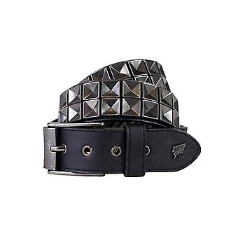 Lowlife Concave Leather Belt in Black