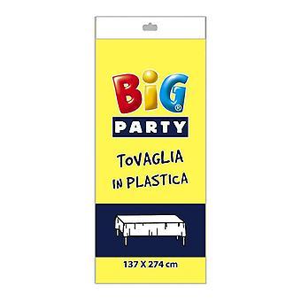 Schwarzer Kunststoff Tischdecke - 137 x 274cm Party-Dekoration