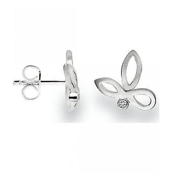 bastian inverun - 925 silver stud earrings with diamond 0.02 ct WP1 - 22650