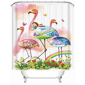 Fairy Tale Flamingos Shower Curtain