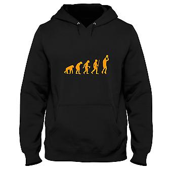Black man hoodie evo0002 basketball evolution humor