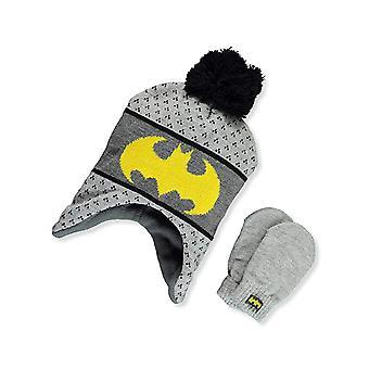 Beanie Cap - DC Comics - Batman Logo Gray w/Mittens Hat 403604