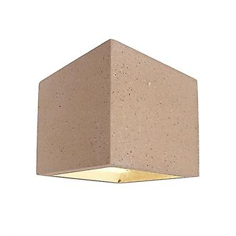 Wand bouw lamp kubus G9 1x25W 115x115mm beige beton