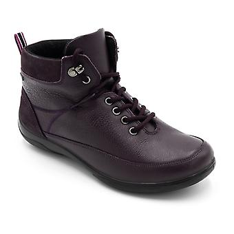 Padders Stoneywell Ladies Leather Extra Wide (2e/3e) Waterproof Boots Purple