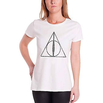 Harry Potter Deathly Hallows Symbol Official Womens Skinny Fit T Shirt