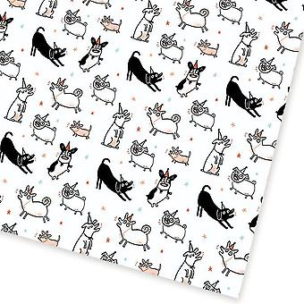 Ohh Deer Party Dogs Gift Wrap
