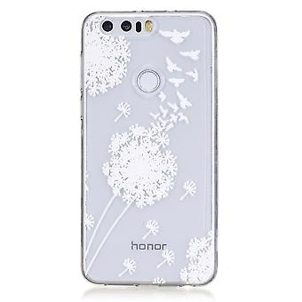 Rumpf für Ehre 8 transparente flexible Muster weiße Blumen