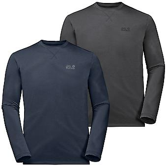 Jack Wolfskin Mens Crosstail Long Sleeve Crew Neck Lichtgewicht T shirt Top
