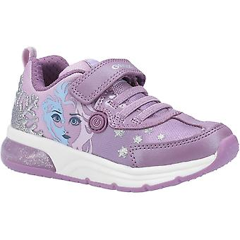 Geox Kids J Spaceclub Girl D FROZEN Touch Fastening Trainer