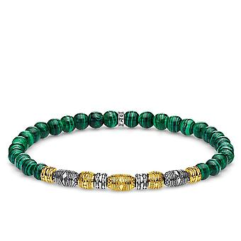 Thomas Sabo Sterling Silver Thomas Sabo Green Lucky Charm Beaded Bracelet A1920-140-6
