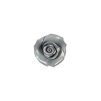 SugarSoft syötävä kukka-ruusut-hopea-38mm-kotelo 20