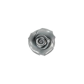 SugarSoft Flor comestible - Rosas - Plata - 38mm - Caja de 20