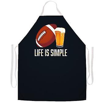Das Leben ist einfache Fußballschürze