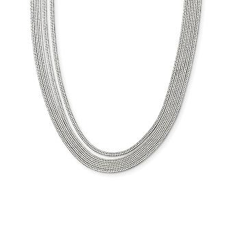 925 Sterling Silver 5 strand Herringone Chain With 2in Ext Necklace Size 17 Jewelry Gifts for Women