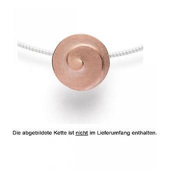 bastian inverun - 925/- silver hängsmycke delvis ros guldpläterade, matt - 24120
